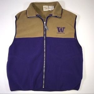 Red Oak SportsWear Huskies Fleece Vest Size-M